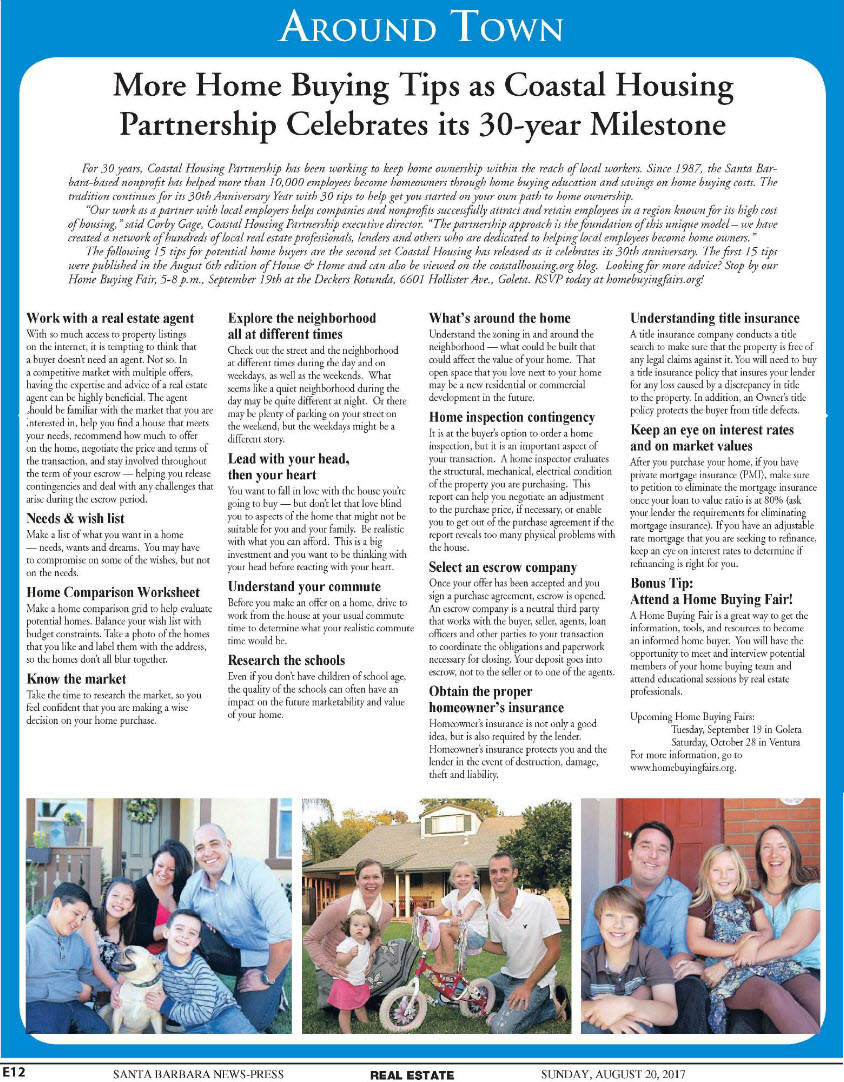 Press Clipping - 30 Home Buying Tips for 30 Years, Part 2